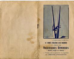 90 BALLON D'ALSACE Programme D' Inauguration Du Monument Aux Démineurs  6 Juillet 1952 - Documentos Históricos