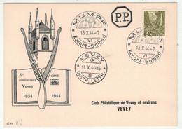 Suisse // Schweiz //  //  Marcophilie // 1944 //  Carte Avec Cachet K18 Du 13.10.1944 Mumpf - Marcofilia
