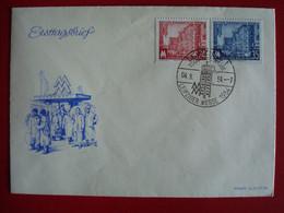 ALLEMAGNE ORIENTALE . DDR . LEIPZIG TECHNISCHE MESSE 1954 . ERSTTAGSTEMPEL 04.9.54 - FDC: Buste