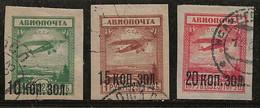 Russie 1924 N° Y&T : PA. 15 à 17 Obl. - Gebruikt