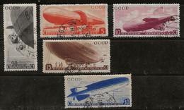 Russie 1934 N° Y&T : PA. 33 à 37 Obl. - Gebruikt
