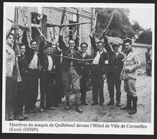 1986  --  MEMBRES DU MAQUIS DE QUILLEBEUF DEVANT LA MAIRIE DE CORMEILLES . 3U213 - Unclassified