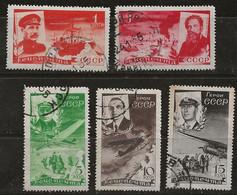Russie 1934 N° Y&T : PA. 49 à 53 Obl. - Gebruikt