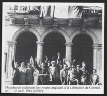 1986  --  LIBERATION DE CORMEILLES . MAQUISARDS ACCLAMND LES ANGLAIS . 3U214 - Unclassified