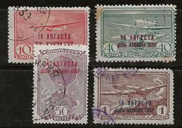 Russie 1939 N° Y&T : PA. 66A Et 66C à 66E Obl. - Gebruikt
