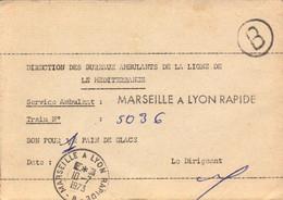 Lettre, Reçu, Marseille A Lyon Rapide, Train, Service Ambulant, 1973   (bon Etat) - 1921-1960: Modern Period