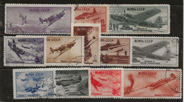 Russie 1944 N° Y&T : PA. 12 Valeurs Série 72 à 89 Obl. - Gebruikt