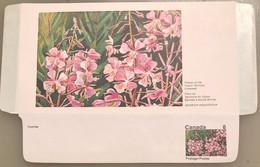 Canada Stationery Aerogramme Flower Of The Yukon Territory Fireweed- Unused - Otros