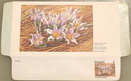 Canada Stationery Aerogramme Flower Of Manitoba Prairie Crocus- Unused - Otros