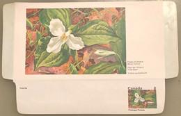 Canada Stationery Aerogramme Flower Of Ontario White Trillium- Unused - Otros