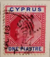Chypre 1903-1908  -  Y&T  N° 36- 1pi. Carmin Et Bleu /0/ - Otros