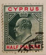 Chypre 1903-1908  -  Y&T  N° 35- 1/2pi. Vert Et Carmin /0/ - Otros