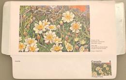Canada Stationery Aerogramme Flower Of Northwest Territories Mountain Avens- Unused - Otros