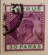 Chypre 1903-1908  -  Y&T  N° 35- 30pa. Lilas Et Vert /0/ - Otros