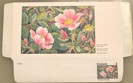 Canada Stationery Aerogramme Flower Of Alberta Wild Rose- Unused - Otros