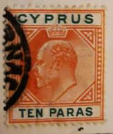 Chypre 1903-1908  -  Y&T  N° 45- 10pa. Orange Et Vert /0/ - Otros