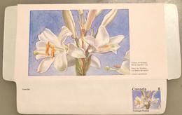 Canada Stationery Aerogramme Flower Of Quebec White Garden Lily- Unused - Otros