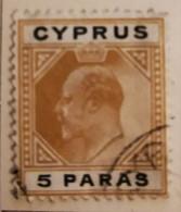 Chypre 1903-1908  -  Y&T  N° 44- 5pa. Bistre Et Noir /0/ - Otros