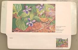 Canada Stationery Aerogramme Flower Of New Brunswick Purple Violet- Unused - Otros