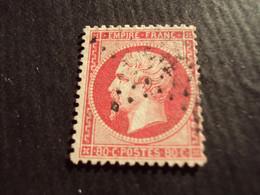 "1853-60 - Oblitéré N°  24   ""  Napoléon III, 780 C Rose   ""  ""étoile ""    Net   20 - 1862 Napoléon III"