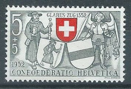 Suisse YT N°521 Glarus Zug Neuf ** - Nuevos