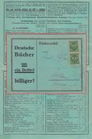 DR-Infla - 2x300 M. Ziffer Bücherzettel I.d. SCHWEIZ München - Wohlen 23.8.23 - Covers & Documents