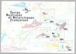 V17 - TAAF Bloc Feuillet **MNH De 2020 - Les 5 Bases Françaises - Format 210x150 Mm -  Faciale D'un Timbre 1,50 € - Neufs