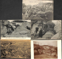 Fort De Loncin - Lot 5 Cartes (animée WW1 + Carte-photo) - Liège