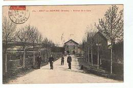 BRAY SUR SOMME * AVENUE DE LA GARE * 1909* - Bray Sur Somme