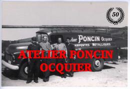 Ocquier - Clavier - Métier Atelier Poncin Charpentes Métalliques Cercle Collectionneurs Durbuy, Carte Membres De 1994. - Clavier