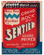 Ancienne étiquette Brasserie Cordier à Provin 59 - Beer