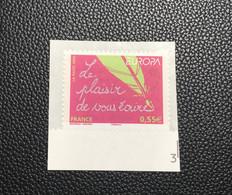 """P6T14 - N°4181 (Adhésif 207) Neuf ** Sur Support """"Le Plaisir De Vous écrire"""" De 2008 - Adhesive Stamps"""