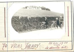 Vers Jalhay  La Dernière Côte 1928  Cyclistes  Photo - Jalhay
