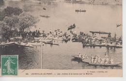 CPA Joinville-le-Pont - Les Joutes à La Lance Sur La Marne (très Joli Plan) - Joinville Le Pont