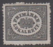 1856. SVERIGE.  Stamps For City Postage. 1 Sk Or From 1.7.1858 3 öre Black. No Gum. (Michel 6) - JF411464 - Neufs