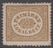 1862. SVERIGE. Stamps For City Postage. (3 ö) Bistre Brown. Round Corner. (Michel 13) - JF411465 - Neufs