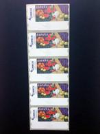 ESPAÑA.AÑO 2003./BODEGÓN CON NARANJAS./Tira De 5 Etiquetas Postales Nuevas Y Limpias. - Machine Stamps (ATM)