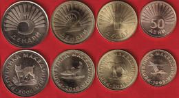 North Macedonia Set Of 4 Coins: 50 Deni - 5 Denari 1993-2018 UNC - Macedonia