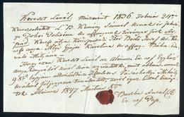 """ALVINC 1847. Dekoratív, érdekes , Szép Szövegű """"keresztlevél""""  /  1847 Decorative Interesting Nice Script """"christening L - Sin Clasificación"""