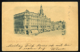 BUDAPEST 1898. New York Palota, Régi Képeslap - Hungría