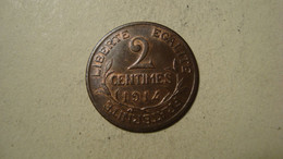 MONNAIE FRANCE 2 CENTIMES DUPUIS 1914 - B. 2 Centimes