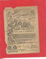"""PUB """" CONSERVE D'OSEILLE - VICTOR CLAIRET A VARREDDES Pres MEAUX """"  - 13 X 10 Cms  ETAT TRES MOYEN  .  2 SCANES - Food"""