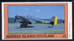 Bernera 1982 WW2 Aircraft Imperf Souvenir Sheet (£1 Value) U/M - Scotland