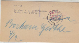 Gebühr Bezahlt An Zeche Graf Schwerin Aus HERNE 2.2.46 - Non Classificati