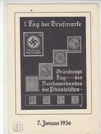Privat-Ganzsache Aus FORST(LAUSITZ) 10.1.37 1.Tag Der Briefmarke - Brieven En Documenten