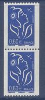 N° 3973 Marianne De Lamouche Roulette Valeur Faciale 0,60 € X 2 - 2004-08 Marianne Van Lamouche