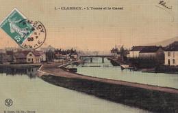 """CLAMECY """" Le Canal , Carte Toilée""""     N°7119 - Clamecy"""
