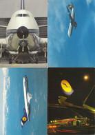 4 Postkaarten - CPA  Vliegtuigen LUFTHANSA (T 233) - Andere