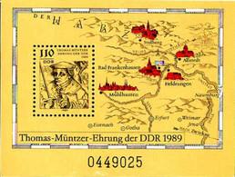 Rda Bloc N** Yv: 96 Mi:97 Thomas Müntzer Ehrung Der DDR - Blocks & Sheetlets