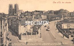De Hoofdkerk St Gudula Standbeeld Paul Janson Oude St Anna Kapel - Côte D'Or Bon Chocolat @  Brussel - Monuments